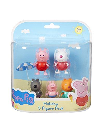 Peppa Pig – Peppa Et Ses Amis À La Plage – 5 Figurines dedans Jeux De Peppa Pig A La Piscine