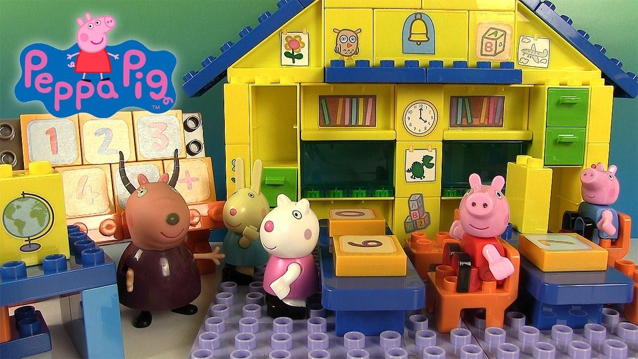 Peppa Pig Salle De Classe Ecole Jeu De Construction Jouets encequiconcerne Jeux De Peppa Pig A La Piscine