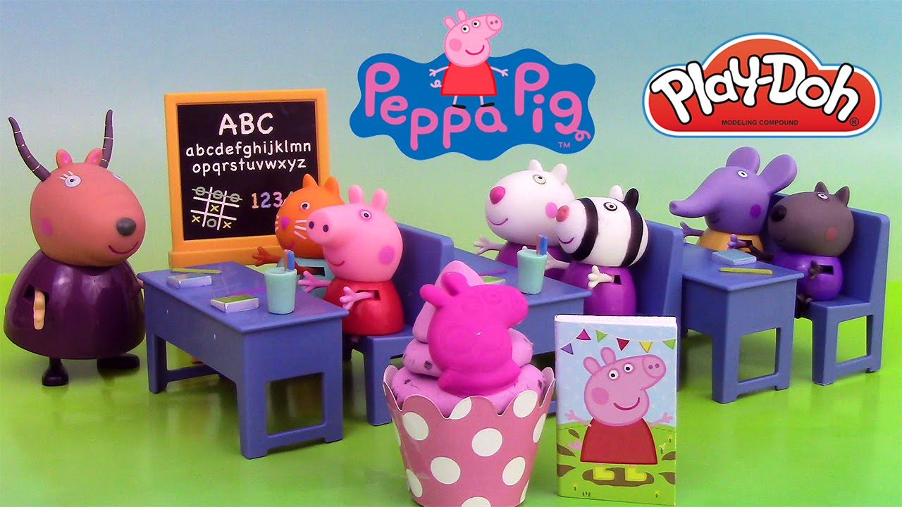 Peppa Pig Salle De Classe Jouets ♥ Peppa Pig Classroom concernant Jeux De Peppa Pig A La Piscine