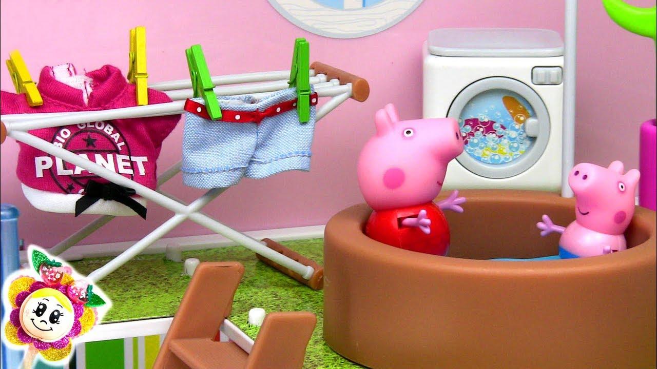 Peppa Pig Se Déplace À Une Énorme Belle Maison Avec destiné Peppa Pig A La Piscine