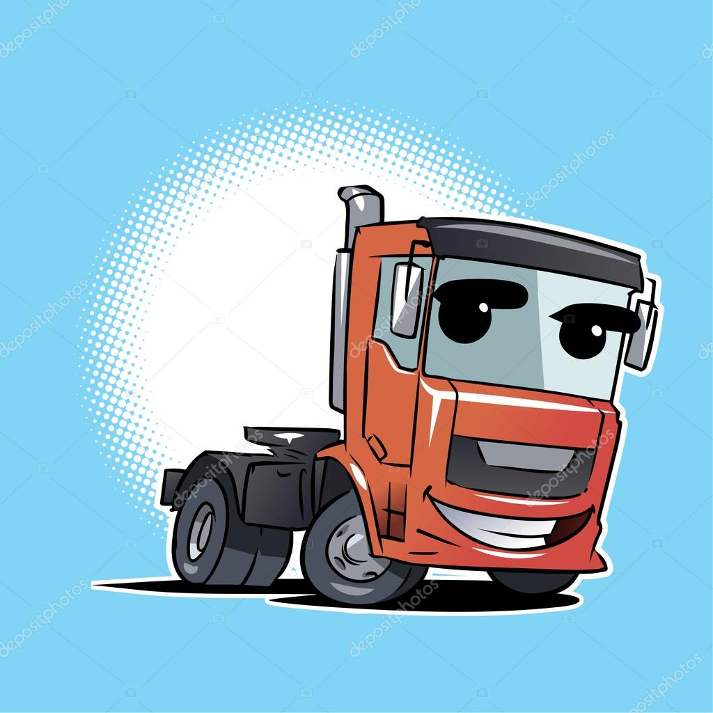 Personnage De Dessin Animé Camion Tracteur Remorque concernant Dessin Animé Camion Grue