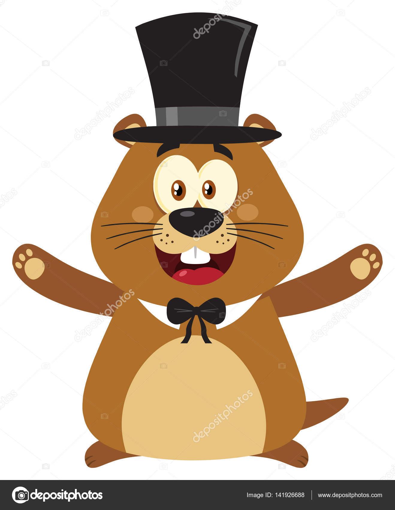 Personnage De Dessin Animé De Marmotte — Image Vectorielle serapportantà Dessin De Marmotte