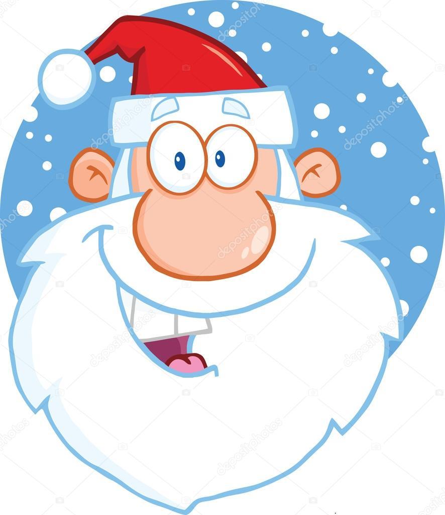 Personnage De Dessin Animé Tête De Père Noël — Photo #31922893 dedans Tete De Pere Noel