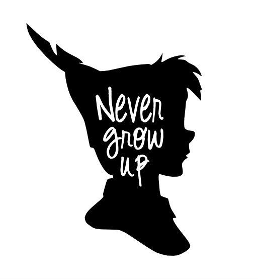 Peter Pan Never Grow Up Vinyl Decal By Gagagallery On Etsy dedans Comment Dessiner Peter Pan