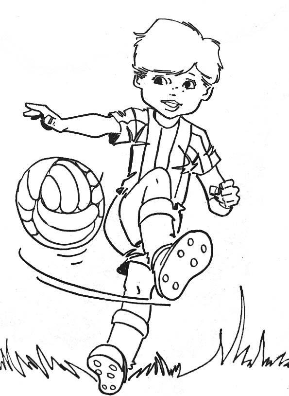 Petit Garcon Foot   Coloring Pages For Boys, Coloring tout Dessin À Colorier Garçon