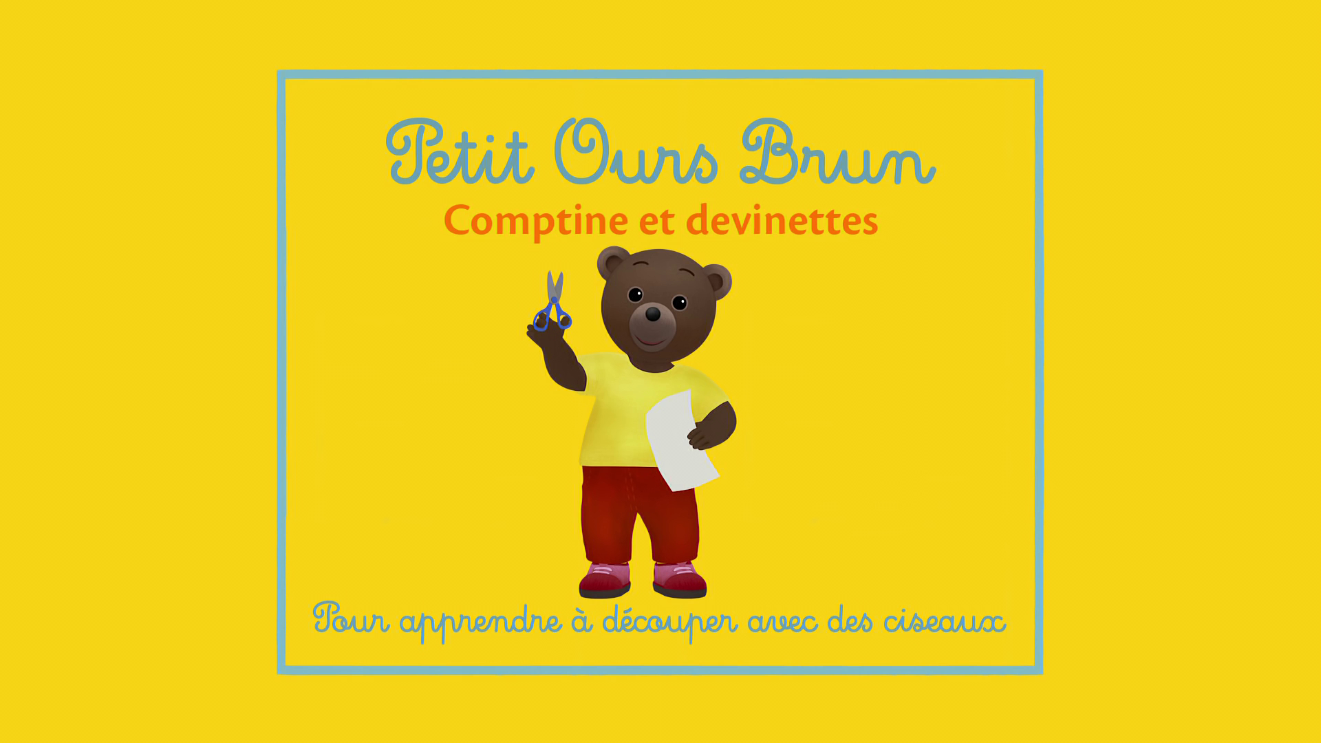 Petit Ours Brun - Comptine Pour Apprendre À Découper Avec serapportantà Petit Ours Brun Va À La Piscine