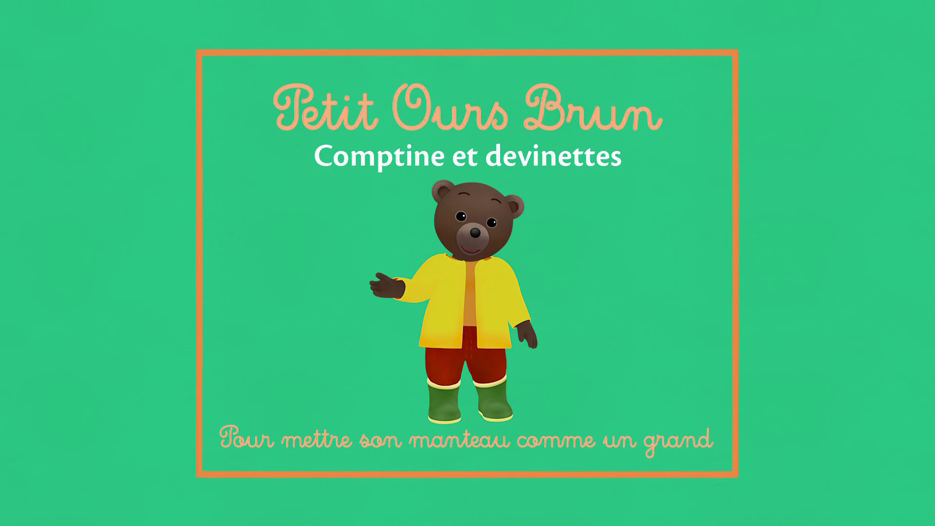 Petit Ours Brun - Comptine Pour Apprendre À Mettre Son avec Petit Ours Brun Va À La Piscine
