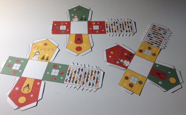 Petites Maisons De L'avent {À Imprimer Gratuitement} - Un destiné Patron+Maison+Papier+A+Imprimer
