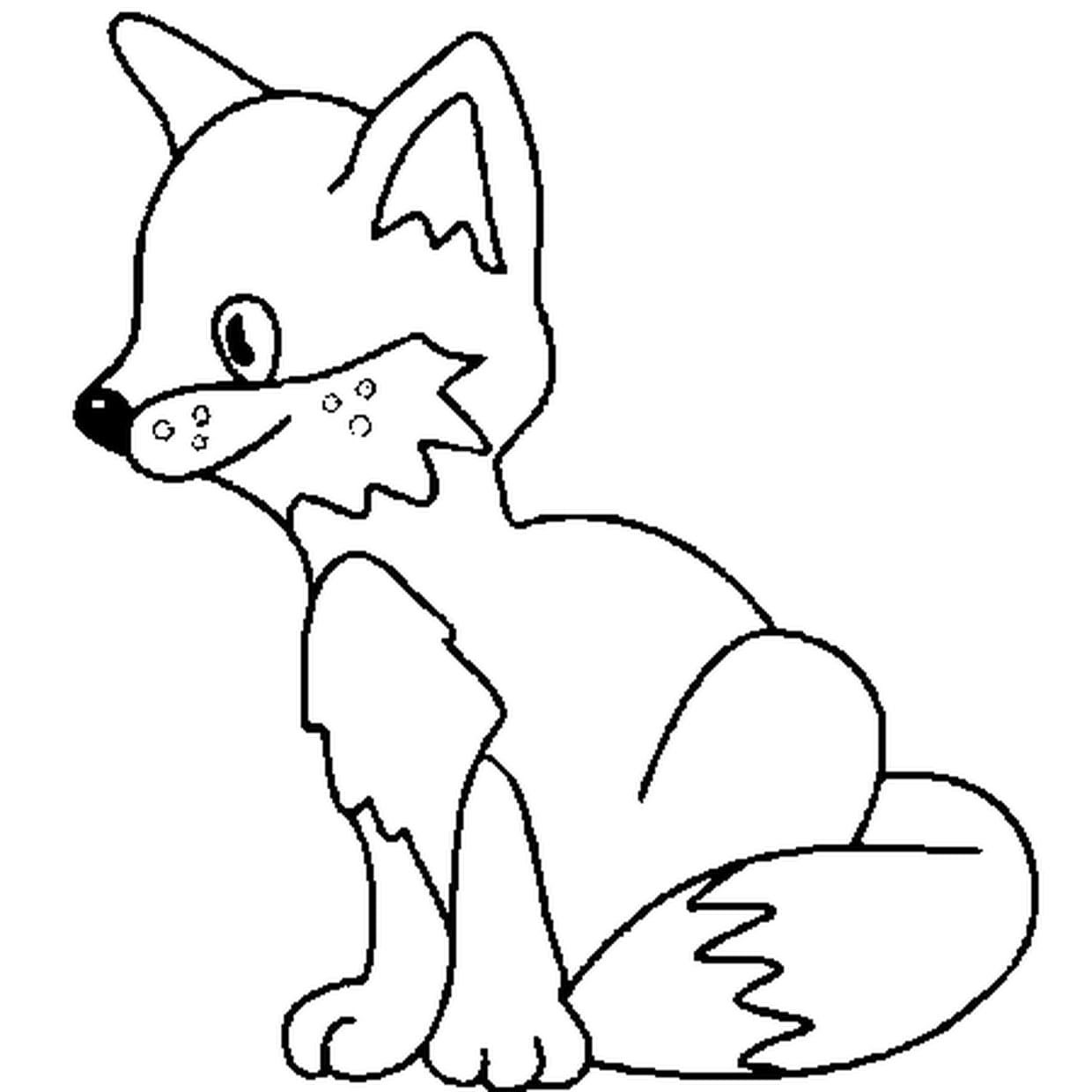 Photo De Renard Facile A Dessiner Photo De Renard Facile A serapportantà Coloriage Renard