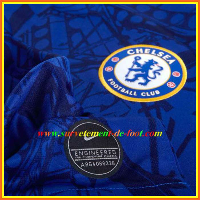 Photo Du Nouveau Maillot Chelsea Manche Longue Domicile tout Embleme Chelsea