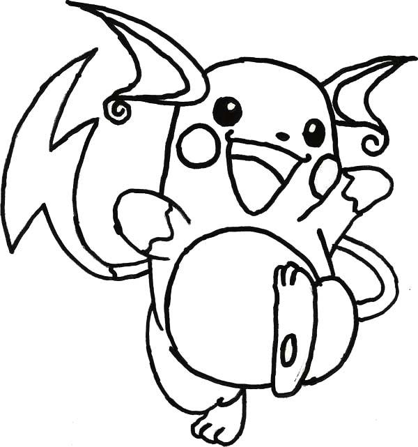 Photos - Bild - Galeria: Pokemon Coloring Pages Raichu pour Coloriage Pokemon Raichu