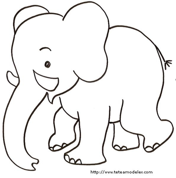 Photos Coloriage Bebe Elephant | Coloriage Elephant à Dessin Animaux Elephant De Cirque