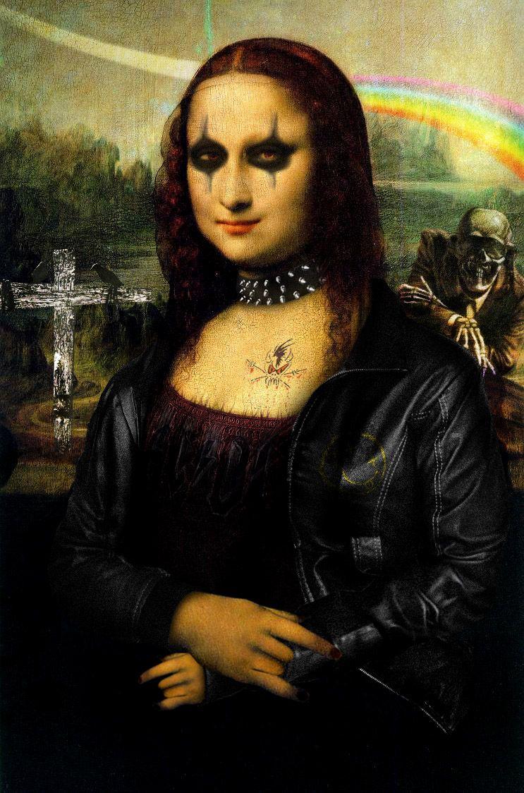 Photoshop Design By Bart842Brando | La Joconde, Mona Lisa tout La Joconde Dessin