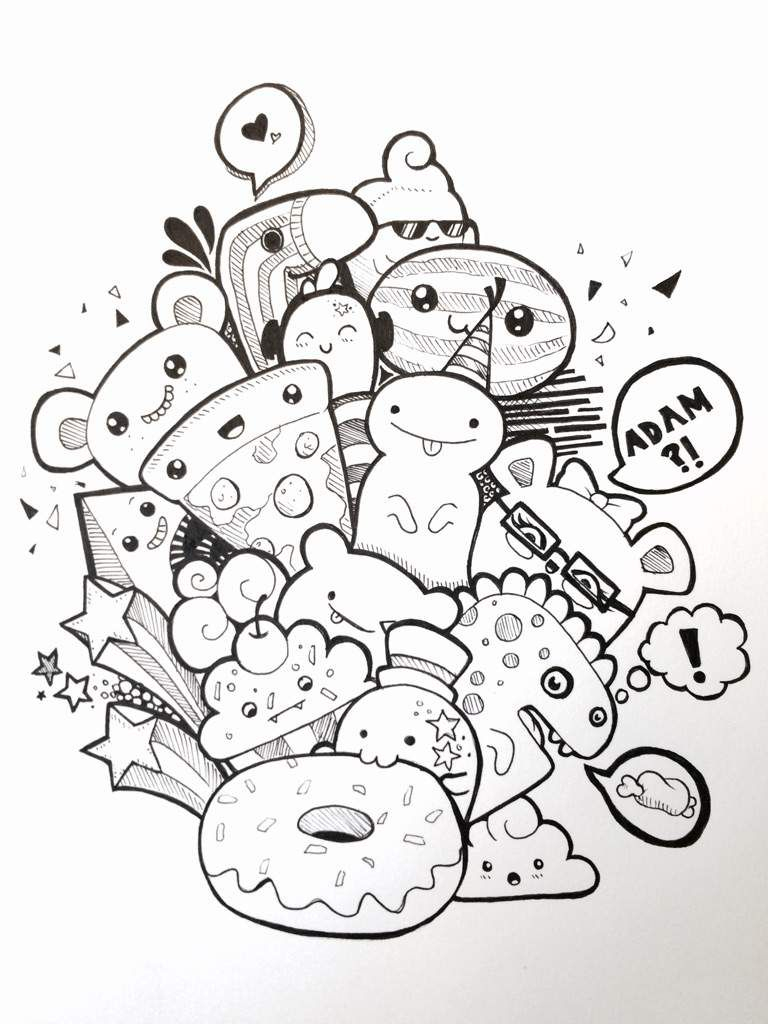 Pic Candle Inspired Doodle! | Art Amino | Dessin Monstre avec Coloriage Kawaii