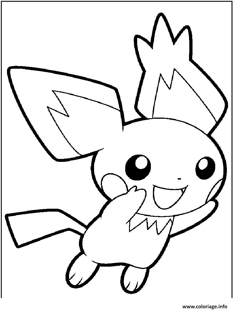 Pikachu And Pichu Coloring Page – Through The Thousands Of intérieur Dessin A Imprimer Pok?Mon Lougaroc Diurne