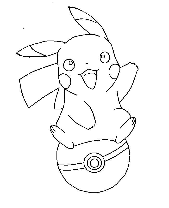 Pikachu On A Pokeball Base By Shqandy On Deviantart serapportantà Dessin Pokemon Gratuit A Imprimer