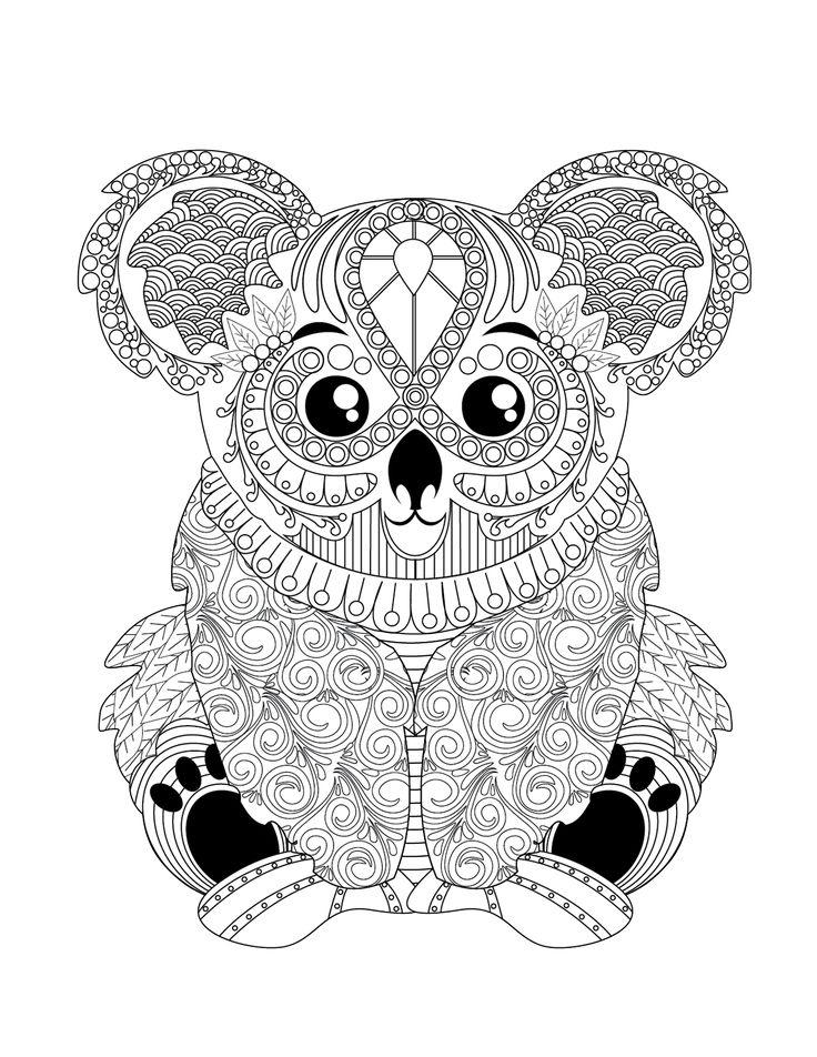 Pin Auf Omalovánky pour Coloriage Koala A Imprimer