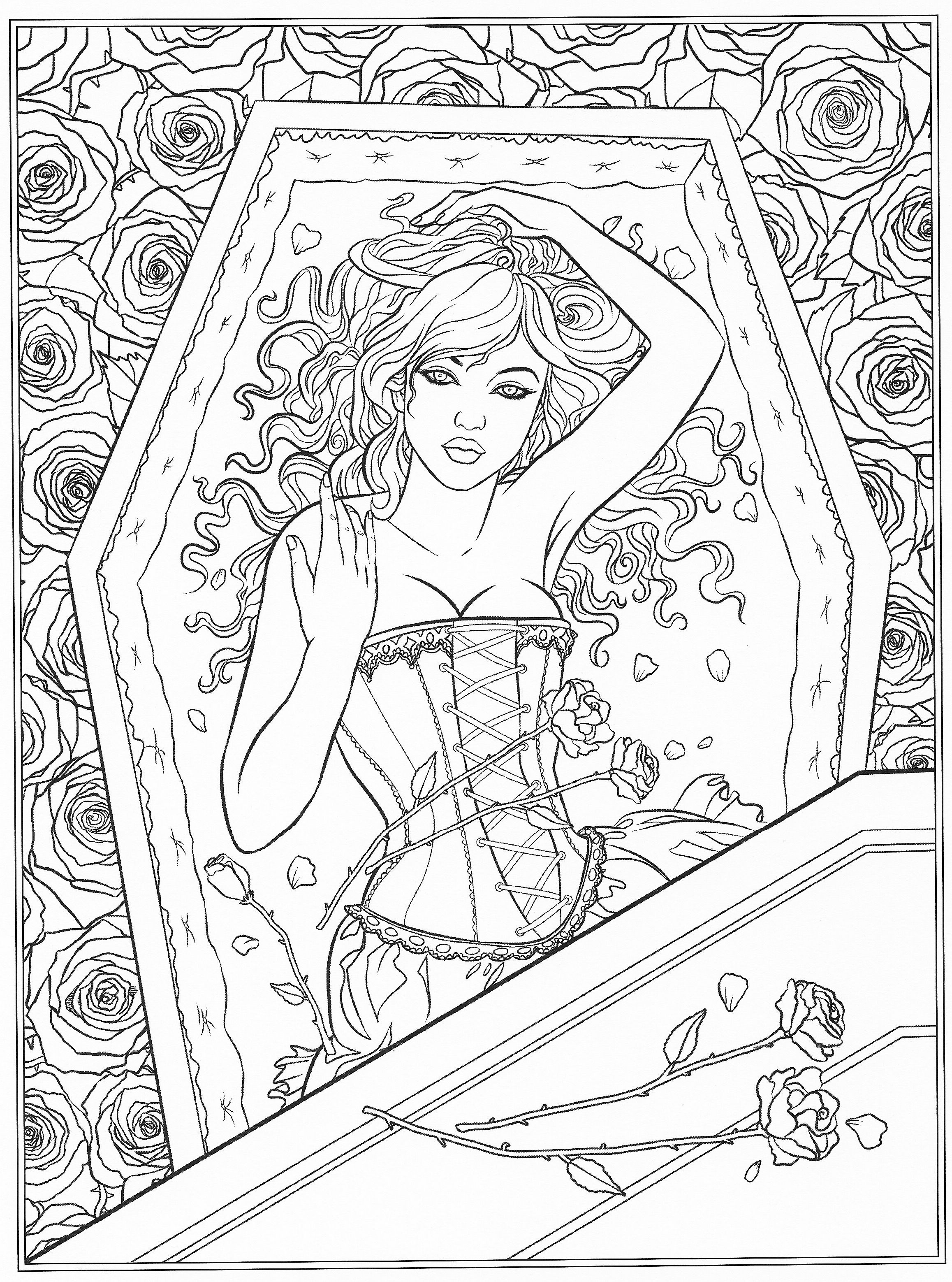 Pin By Coloring Pages For Adults On Coloring Pages | Fairy à Book Coloriage