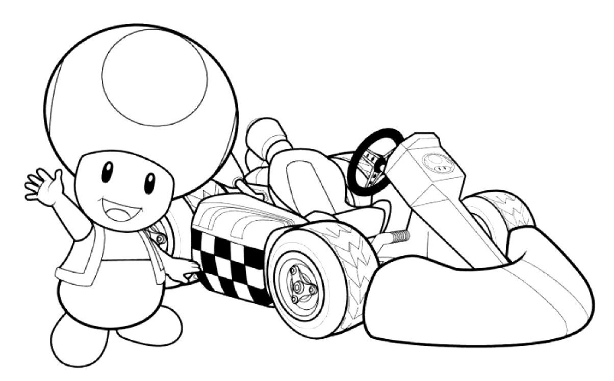 Pin By Mikr Trimble On Line Art | Mario Coloring Pages pour Coloriage Mario Kart 7