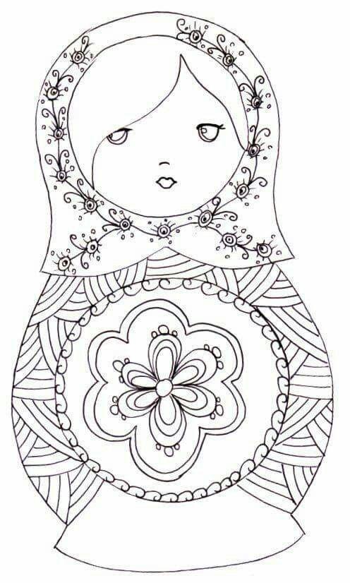 Pin De Beth La Salvia Em Colorir | Desenhos Para Pintar dedans Coloriage Poupée Russe