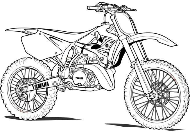Pin De Luiz Mazza Em Dirt Bikes Cartoon Art | Desenhos De serapportantà Moto Cross À Colorier