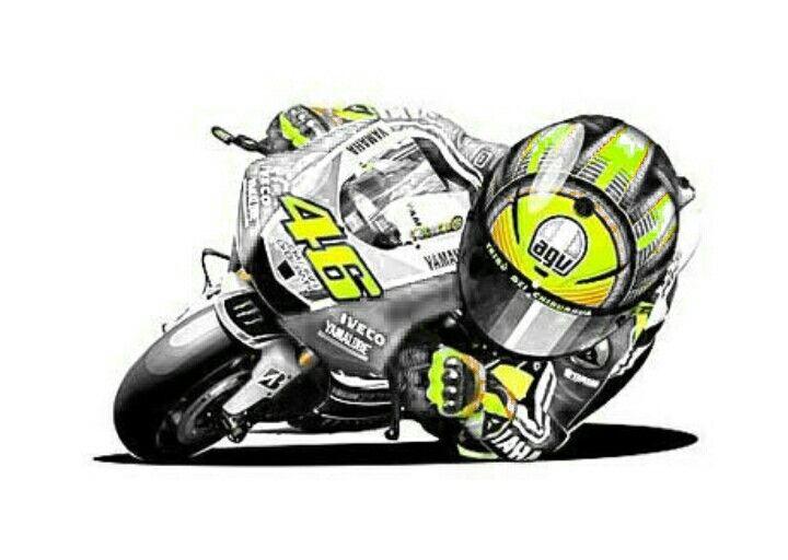 Pin Di Caricature Moto destiné Dessin De Moto Gp