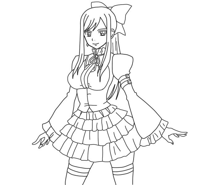 Pin On Coloring Pages For Adults encequiconcerne Coloriage Fairy Tail A Imprimer