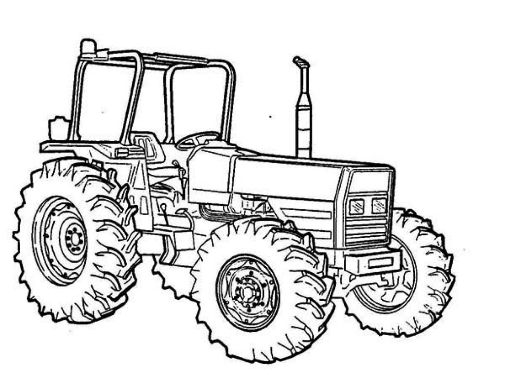 Pin Op Tractors And Construction tout Coloriage Tracteur