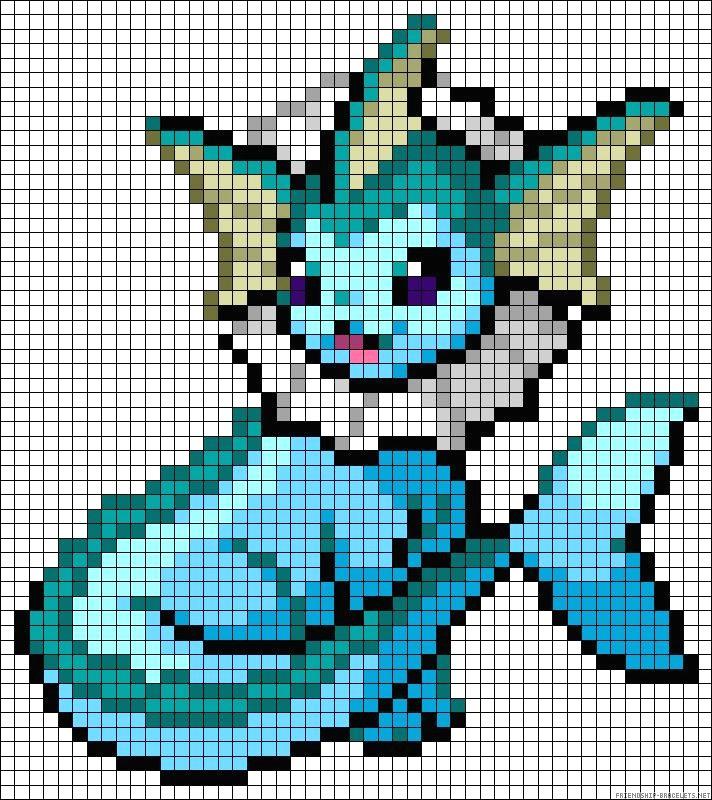 Pixel Art A Imprimer Pokemon pour Modele Pixel Art A Imprimer