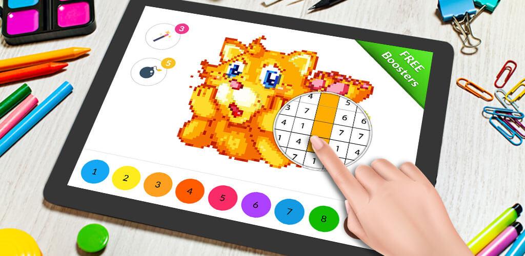 Pixel Art Chat - Peinture Par Numero Livre De Coloriage concernant Pixel Art Livre De Coloriage Numéroté