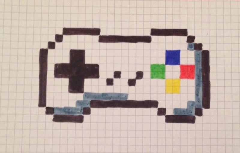 Pixel Art Console De Jeu | Pixel Art, Console De Jeu, Pixel avec Jeux De Coloriage Pixel