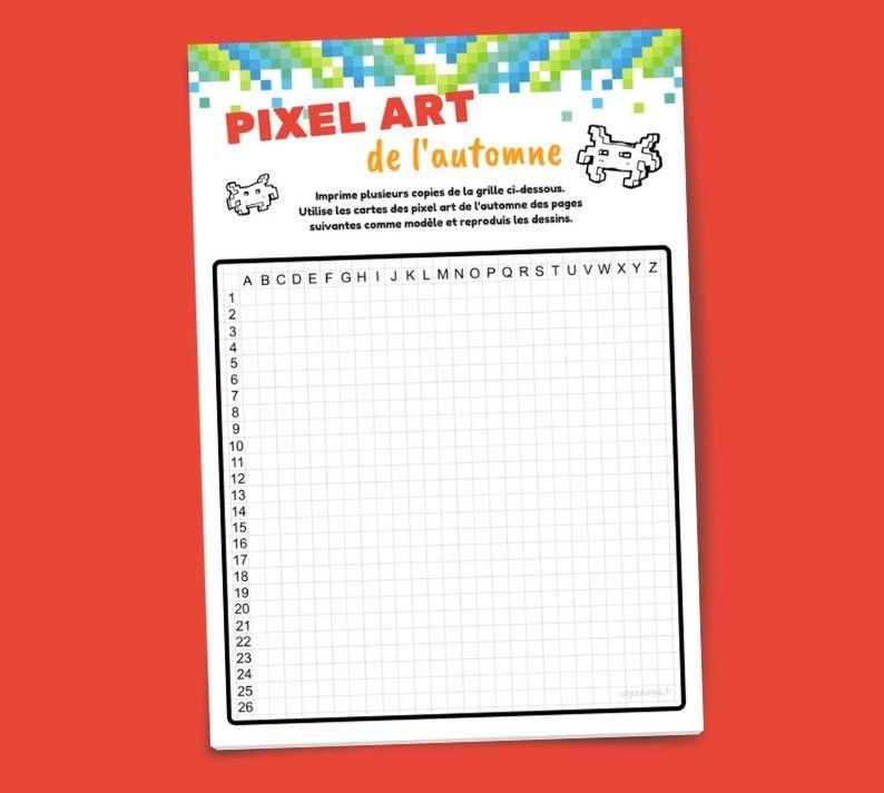 Pixel Art De L'Automne : Fiches À Imprimer Gratuitement concernant Jeux De Coloriage Pixel