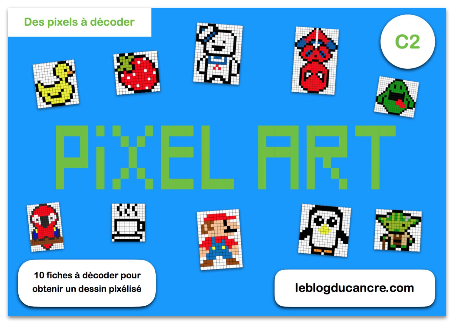 Pixel Art (En Mode Code Secret) – Le Blog Du Cancre serapportantà Jeux De Coloriage Pixel