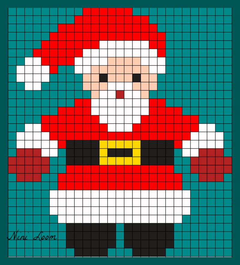 Pixel Coloriage Noel - Ohbq avec Modele Pixel Art A Imprimer