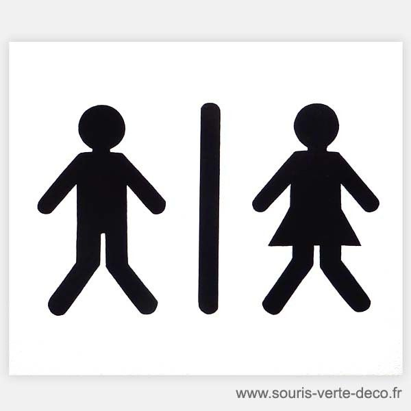 Plaque De Porte De Toilettes Humoristique Bonhommes avec Dessin De Petit Bonhomme