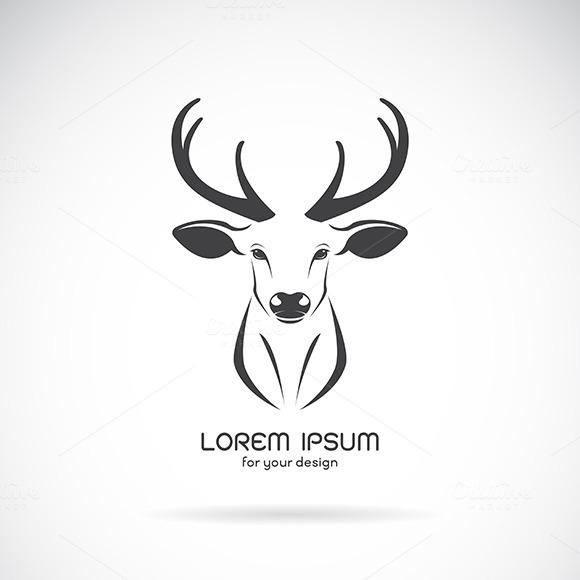 Plasma Cutter Deer Head Templates » Designtube - Creative tout Tete De Cerf Dessin