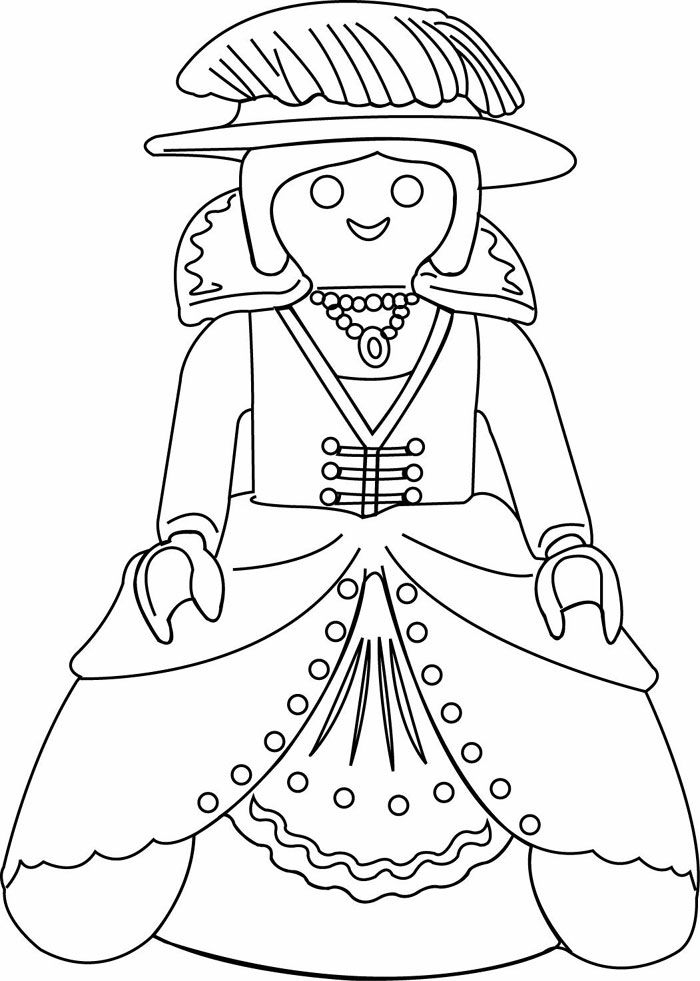 Playmobil Coloring - Google Search | Playmobil, Coloriage serapportantà Coloriage Fille À Imprimer Gratuit