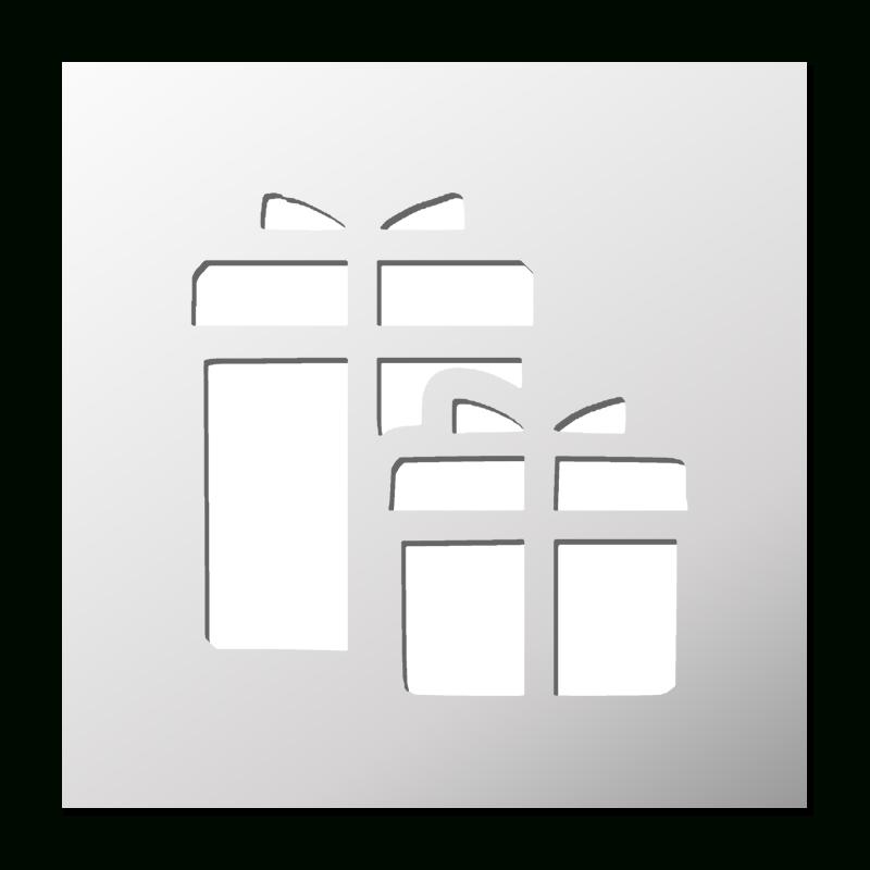 Pochoir Cadeaux | Pochoir, Pochoir Noel Et Boutique Deco intérieur Pochoir De Noel Gratuit A Imprimer