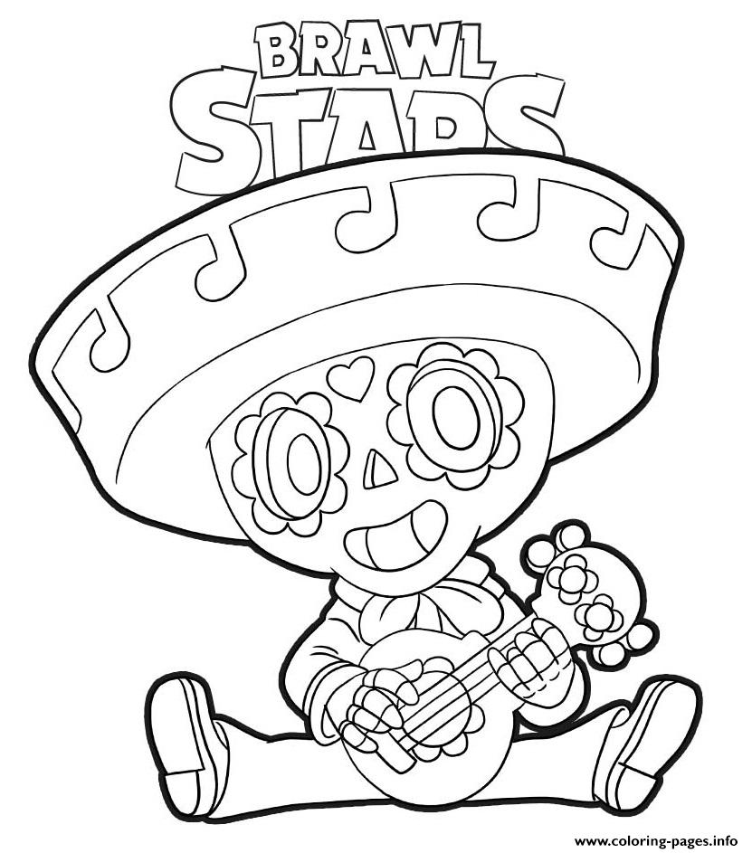 Poco Brawl Stars Coloring Pages Printable encequiconcerne Coloriage Brawl Stars
