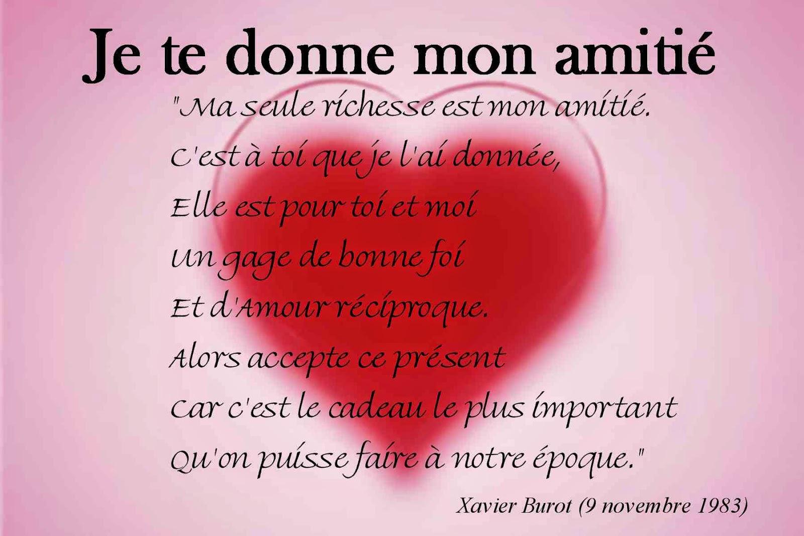 Poeme D'Amitie Tres Touchant à Dessin D Amitié