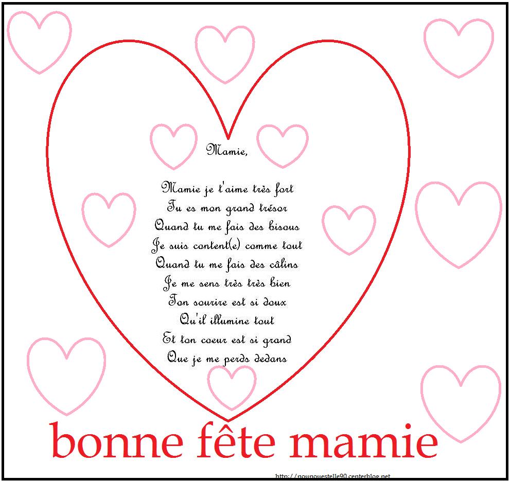 Poeme Et Coloriage Fete Des Mamies concernant Coloriage Bonne Fete Mamie
