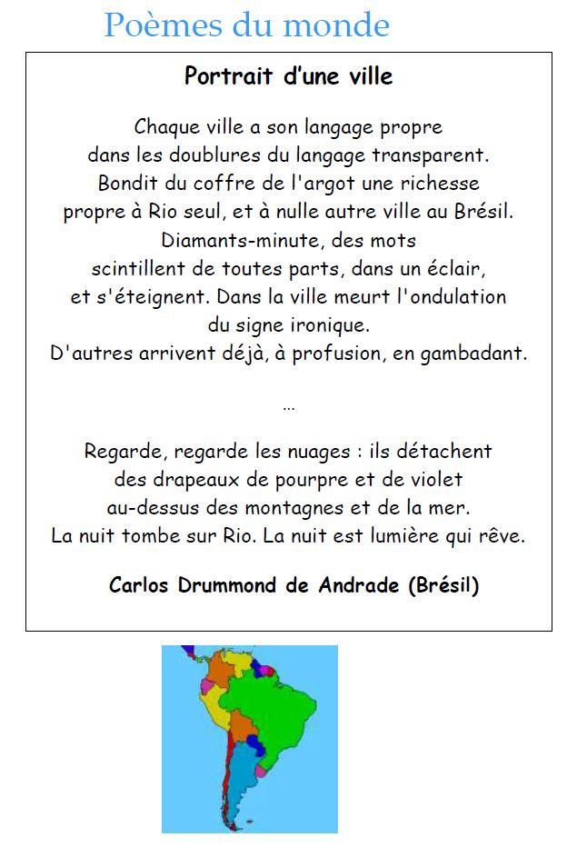 Poeme Qui Parle De La Ville à Vacances Poesie