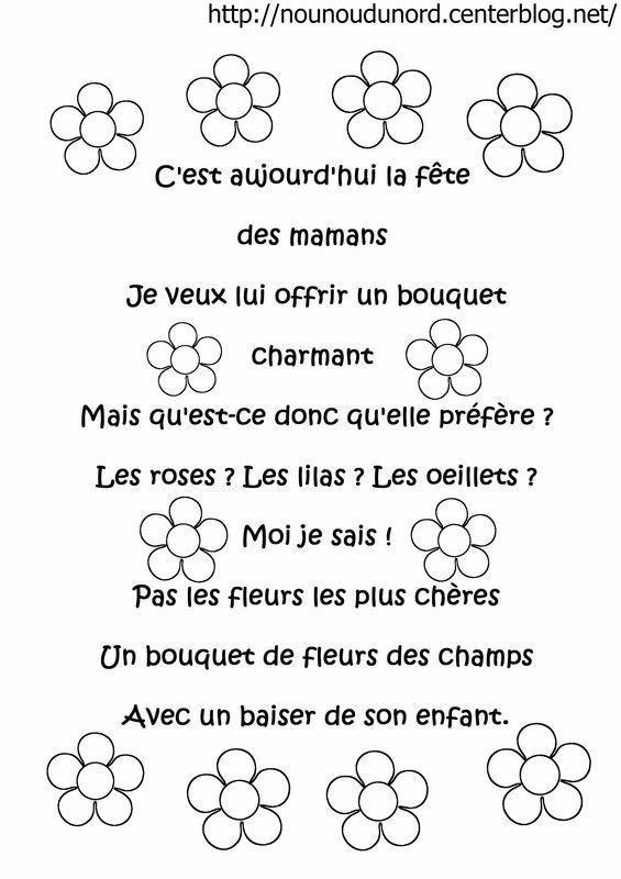 Poemes Fete Des Meres Mamies pour Coloriage De Fête Des Mères À Imprimer