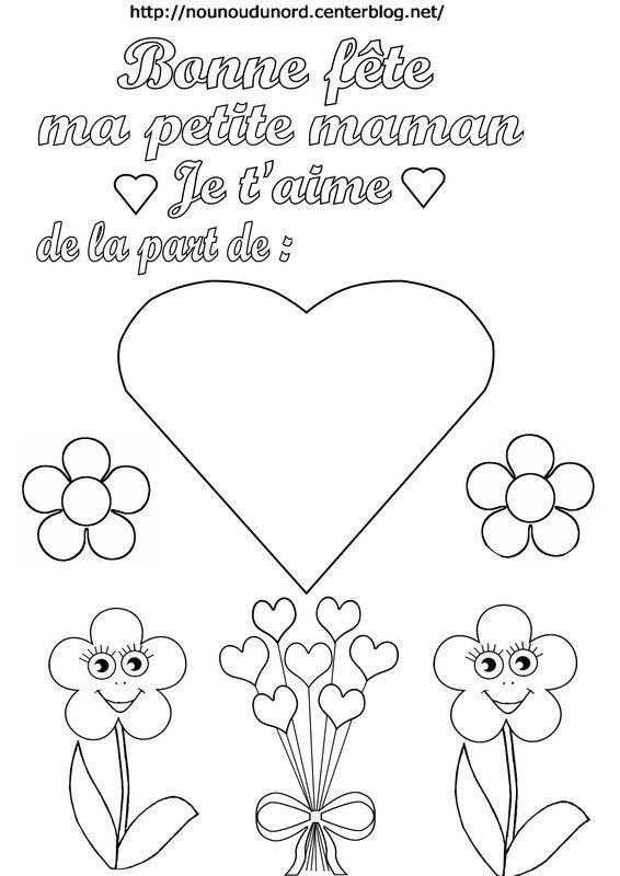 Poemes Gifs Coloriages Fete Des Meres concernant Coloriage Fete Des Maman A Imprimer