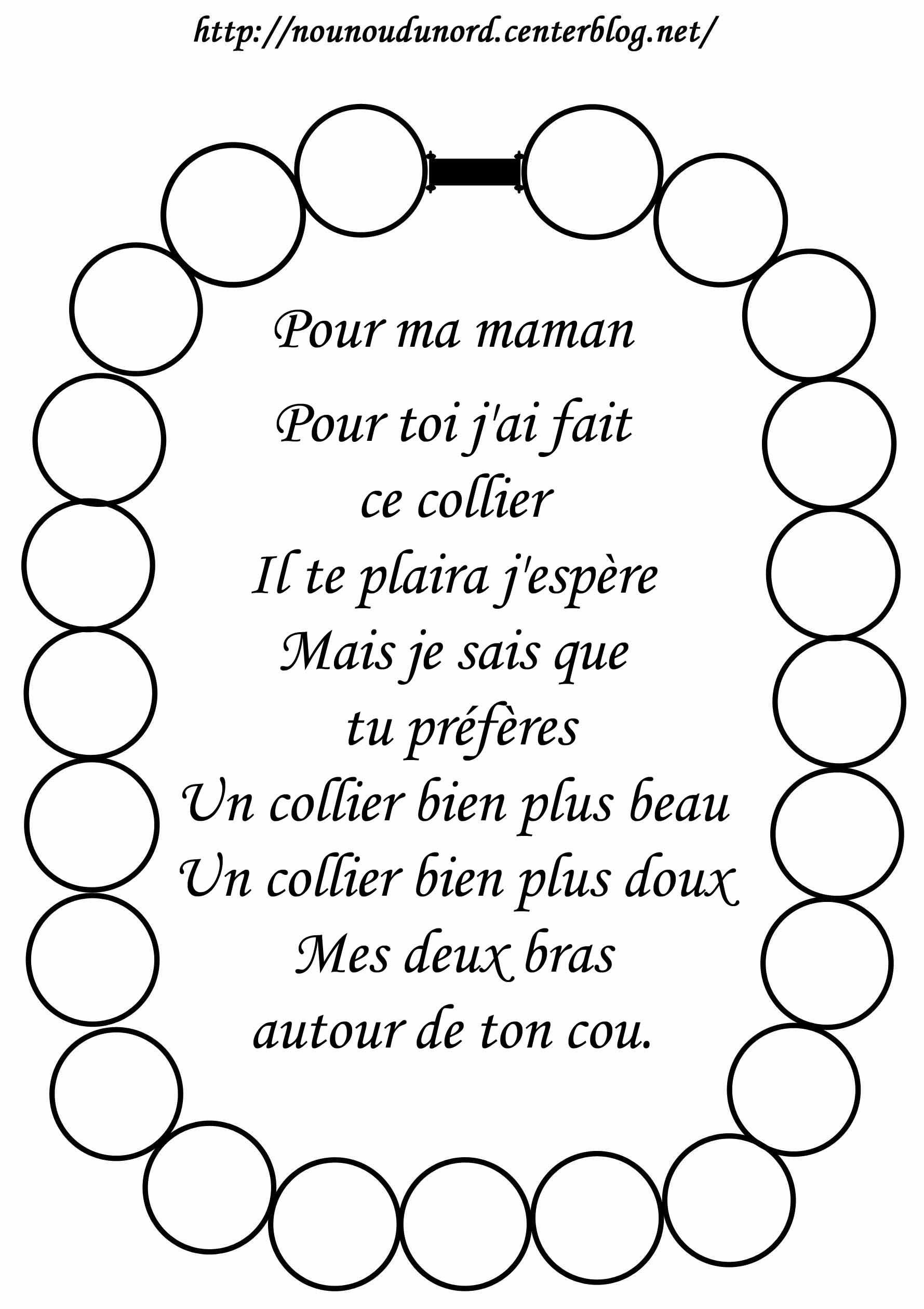 Poesie Fete Des Meres Maternelle - Recherche Google pour Dessin Pour Les Maman