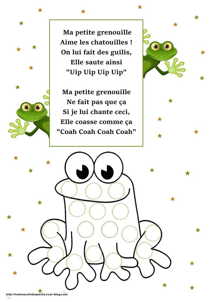 Poesie Grenouille pour Chanson De La Petite Patate