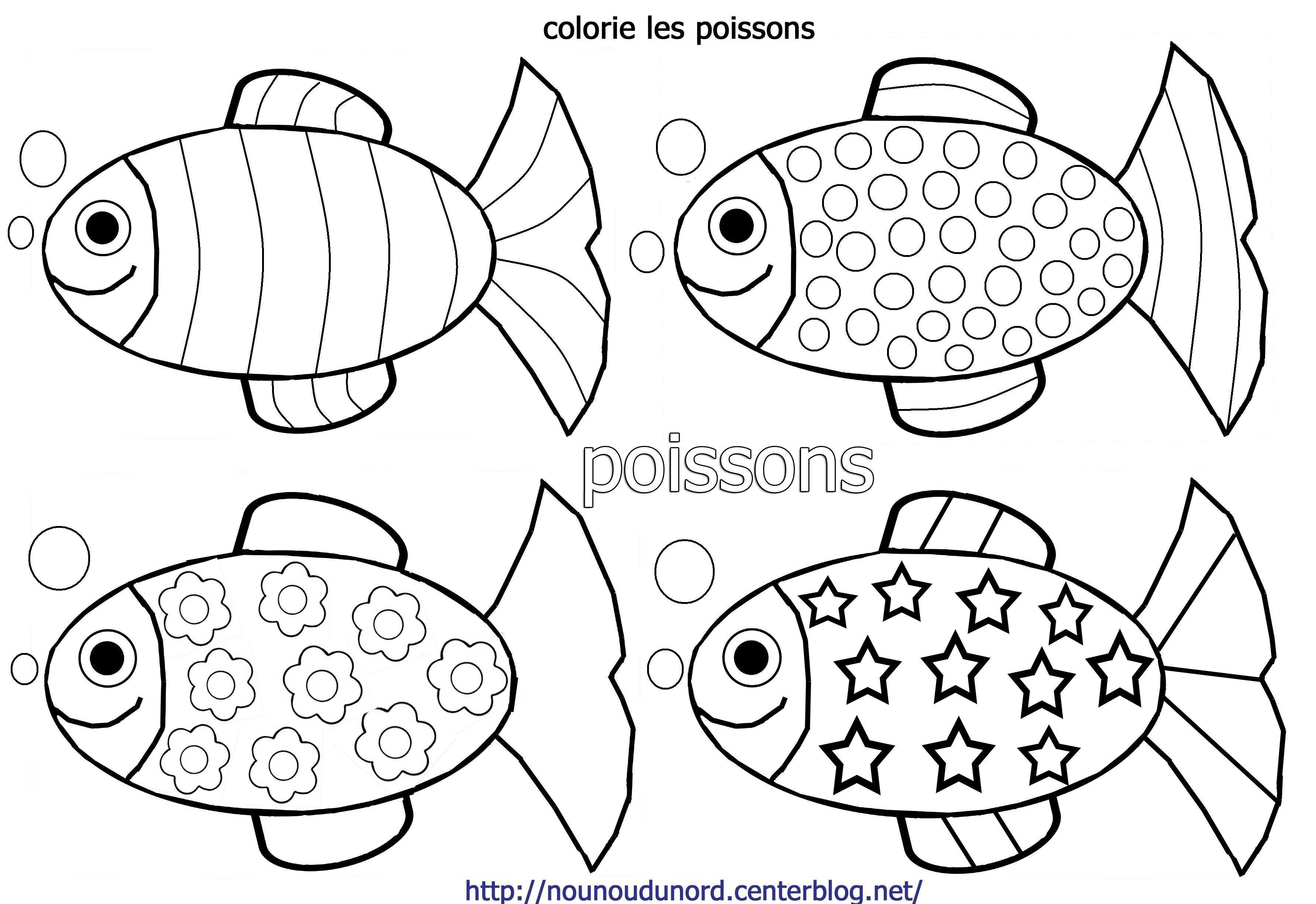 Poisson D Avril Maternelle | Coloriage Poisson, Poisson D concernant Image Poisson A Colorier