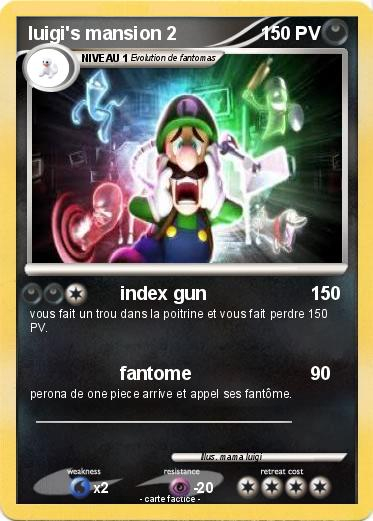 Pokémon Luigi S Mansion 2 2 2 - Index Gun - Ma Carte Pokémon intérieur Coloriage Luigi Mansion 3 Fantome
