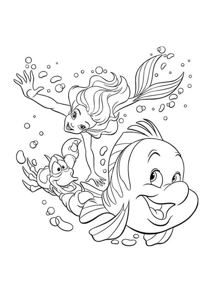Polochon À Colorier - Coloriage La Petite Sirène (Ariel concernant Dessin A Imprimer Arielle La Petite Sirene