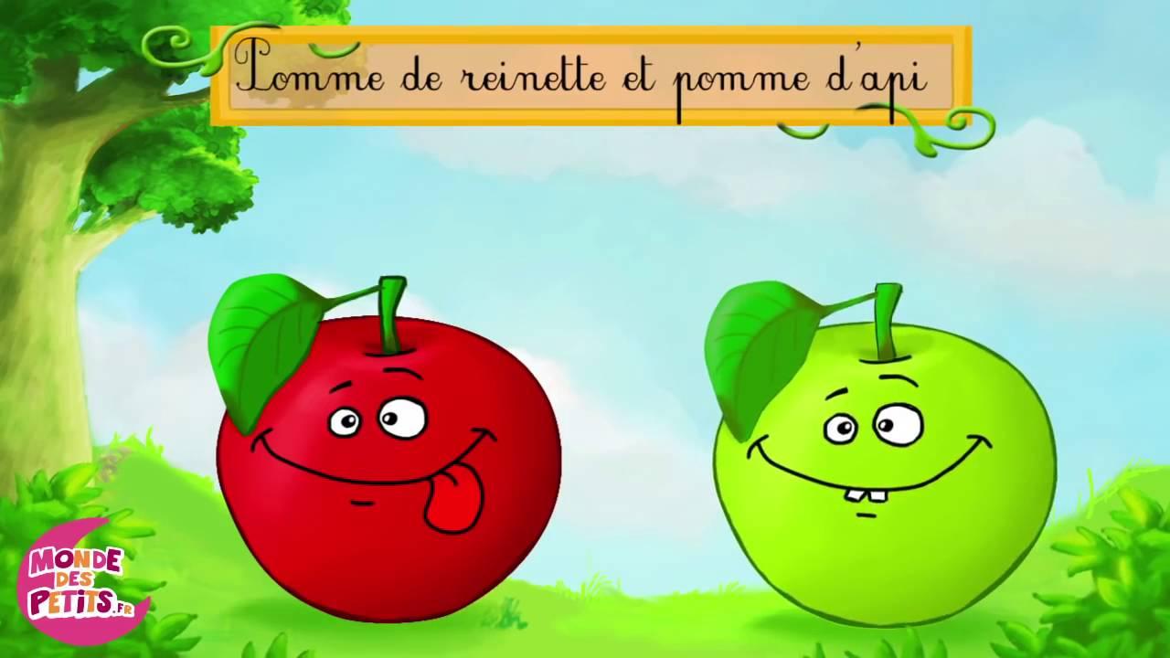 Pomme De Reinette Et Pomme D'Api 1- Le Monde Des Titounis pour Pomme D Api Chanson